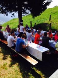 Gröstl essen auf der Zellberghütte
