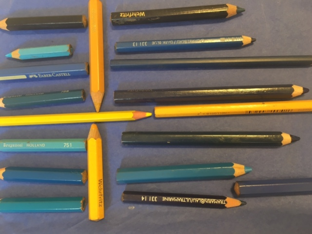 Nationalfarben mit Farbstiften