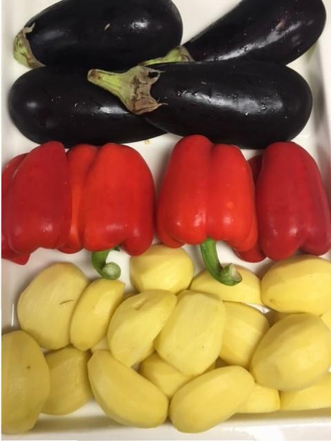 Deutschlands Nationalfarben als Gemüse