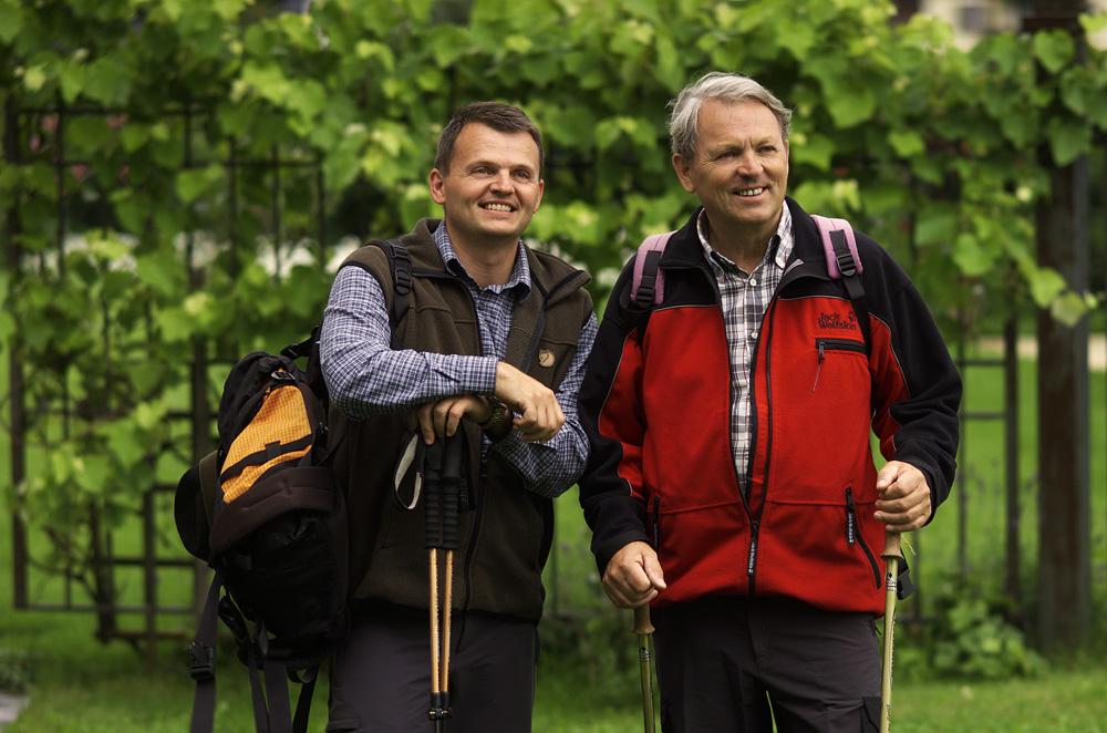 Stefan und Siegfried Egger beim Wandern