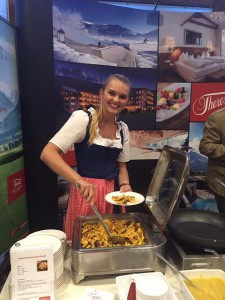 Franziska am Hotel THERESA Messestand