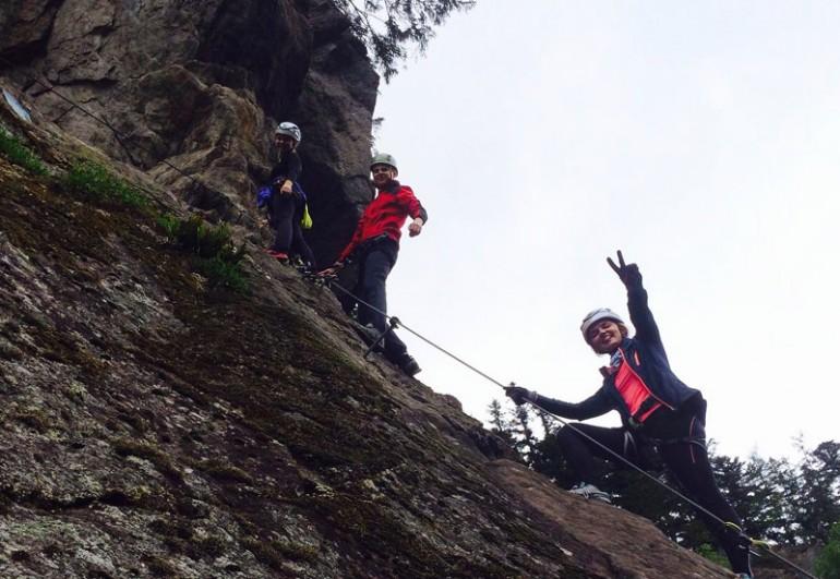 Klettersteig Talbach : Kraxelspaß am klettersteig talbach theresa