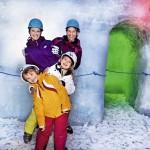 Familie im Eispalast