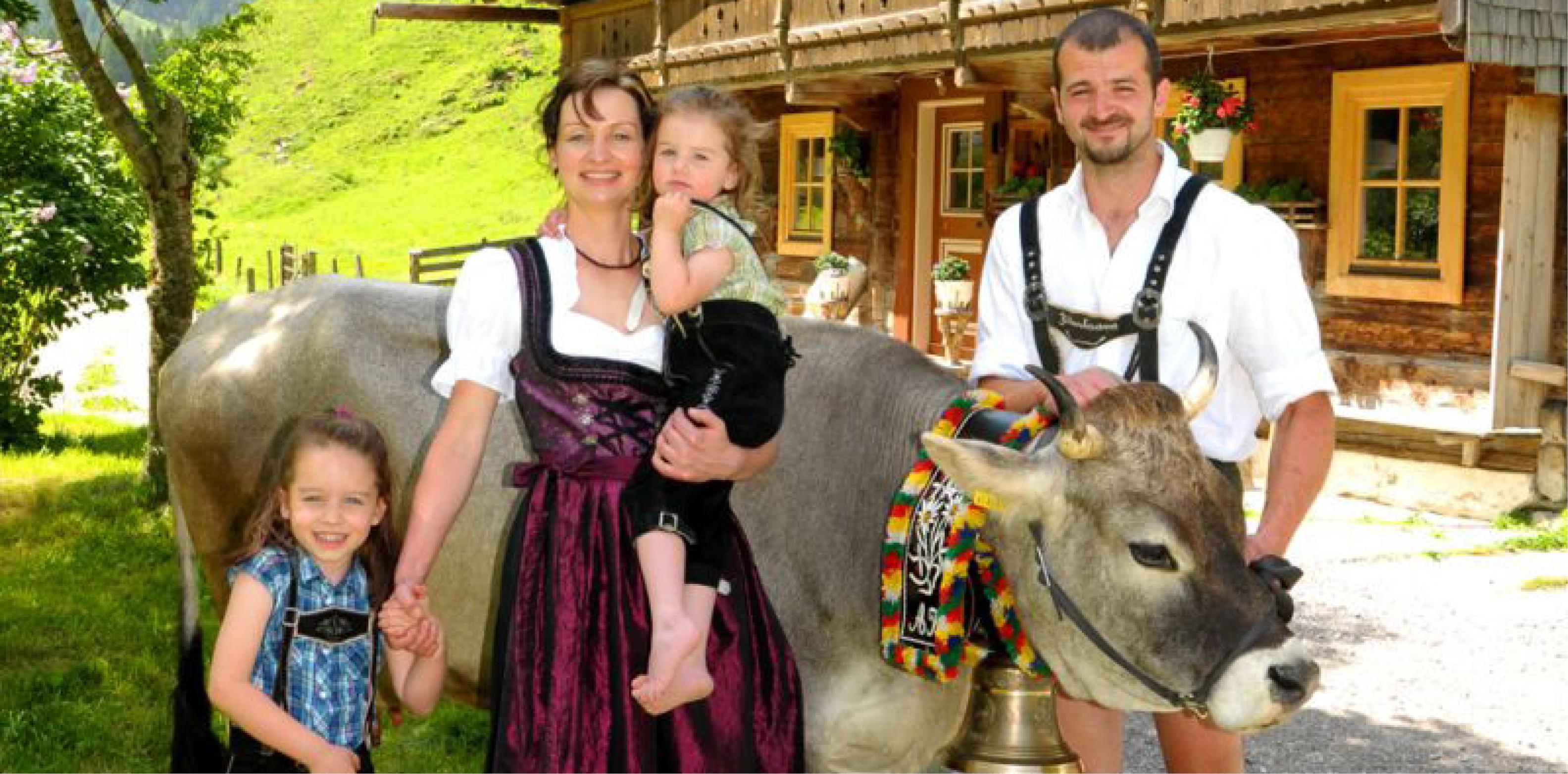 Familie Kern vom Lengauhof Ginzling. ©Lengauhof